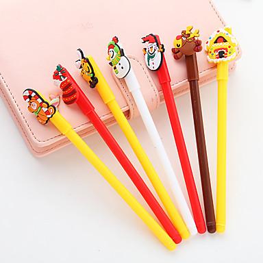 Gel Pen Długopis Długopis, Tworzywa sztuczne Czarny Atrament Kolory Na Przybory szkolne Artykuły biurowe Paczka 12 pcs