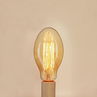 1pc 40 W E26 / E27 / E27 C75 Varm hvit 2300 k Glødende Vintage Edison lyspære 220-240 V