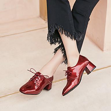 Similicuir Femme Bottier Noir Vin Bleu Talons Confort Printemps Bout 06600712 Nouveauté Chaussures Chaussures Automne Talon carré à 5rgvxw5q