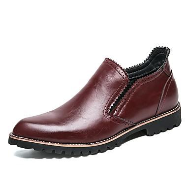 Męskie Buty Formalne Syntetyczny / Sztuczna skóra / Materiał do wyboru Jesień / Zima Mokasyny i buty wsuwane Czarny / brązowy