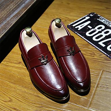 Homme Chaussures en cuir cuir cuir Cuir Printemps / Automne Confort Oxfords Marche Antidérapantes Noir / Marron / Bourgogne / Soirée & EvéneHommes t   Online Shop  1f8eb3
