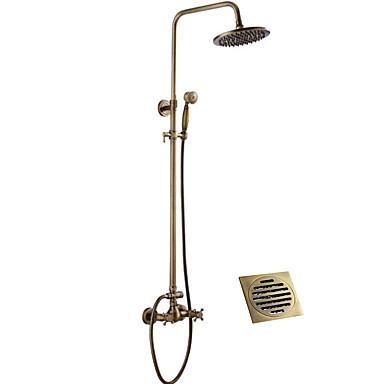 ברז למקלחת - עתיקה נחושת עתיקה מערכת למקלחת / Brass / שתי ידיות שני חורים