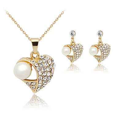 Women's Pearl Jewelry Set - Include White For Party / Birthday / Engagement / Earrings / Necklace