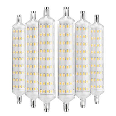 billige Elpærer-YWXLIGHT® 6pcs 12 W LED-kornpærer 1000-1200 lm R7S 108 LED perler SMD 2835 Dekorativ Varm hvit 220-240 V