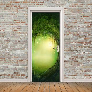 Naklejki na drzwi - Naklejki ścienne lotnicze / Naklejki ścienne 3D Krajobraz / Kwiatowy / Roślinny Salon / Domowy / Możliwość zmiany miejsca