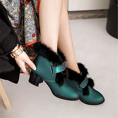 Botte Noir neige Polyuréthane Bottier Bottes Hiver 06570015 Bottes Bottine Bout Femme de Demi Chaussures Vert rond Talon Jaune qO6Wwf