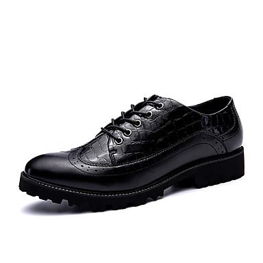 Męskie Komfortowe buty Syntetyczny Microfiber PU Wiosna / Jesień Oksfordki Czarny / Czarny czerwony