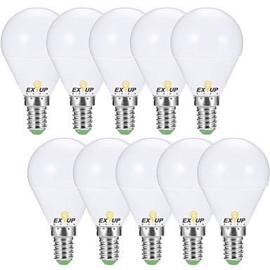 EXUP® 10pcs 7 W 680 lm E14 / E26 / E27 مصابيح كروية LED G45 6 الخرز LED SMD 2835 ديكور أبيض دافئ / أبيض كول 220-240 V / 110-130 V / 10 قطع / بنفايات / CCC / ERP / LVD
