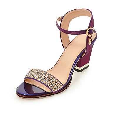 Mujer Zapatos PU Verano Talón Descubierto Sandalias Paseo Tacón Cuadrado Punta abierta Negro / Beige / Fiesta y Noche / Fiesta y Noche QvmJt8mRe