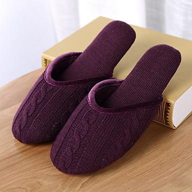 כפכפי נשים נעלי בית רגיל טרילין צבע אחיד