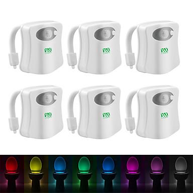 YWXLIGHT® 6pcs אור שירותים סוללות AAA חיישן גוף האדם החלפת צבעים