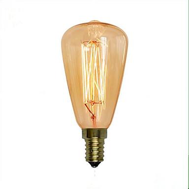 1pç 40 W E14 ST48 Branco Quente 2300 k Retro / Decorativa Incandescente Vintage Edison Light Bulb 220-240 V
