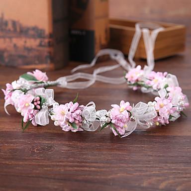 Imitație de Perle / Plastic / Sârmă de cupru Banderolele cu Imitație de Perle / Panglici / Flori 1 Bucată Nuntă Diadema