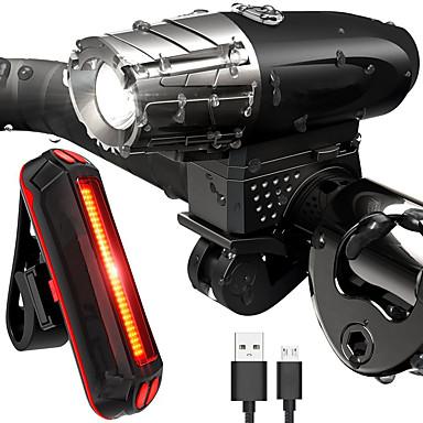 Światła przednie / Tylna lampka rowerowa / Zestaw lampek rowerowych z możliwością ładowania LED Światła rowerowe LED Kolarstwo Wodoodporny, Lekki Akumulator 800 lm Akumulator Biały Kolarstwo / Rower