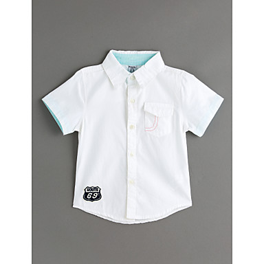 Brzdąc Dla chłopców Solidne kolory Bawełna Koszula Biały 100
