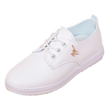 Mujer Zapatos Tela Verano Confort Zapatillas de deporte Tacón Plano Dedo redondo Blanco / Negro / Rosa oJbbi5JrC