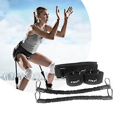 أشرطة المقاومة الرياضية مع معدن محمول, انفصال, تدريب القوة جهاز تدريب القوة الفائقة, جهاز الارتداد الأفقي, عضلة الساق قوة إلى عن على يوغا / التايكوندو / الملاكمة رجل