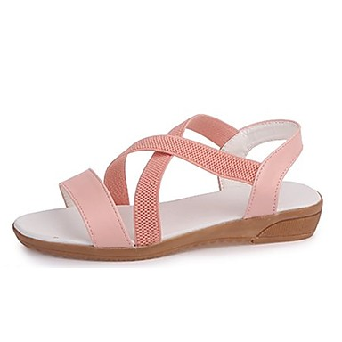 Zapatos Verano Blanco Sandalias Confort Mujer Tacón Pu Plano Rosa We1oqi 0wOnPk8