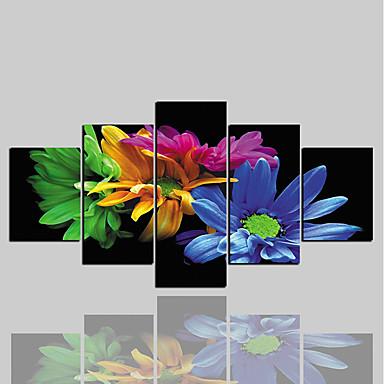 zrolowane wydruki na płótnie klasyczne nowoczesne, pięć paneli na płótnie poziome dekoracje ścienne dekoracje do domu