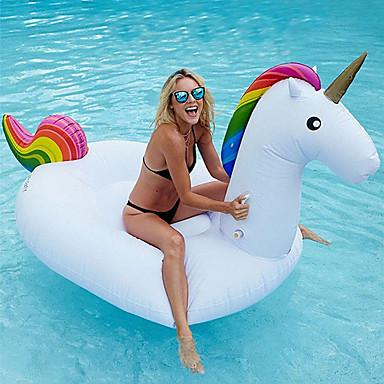hesapli Oyuncaklar ve Oyunlar-Unicorn Şişme Havuz Şamandıraları Donut Havuz Şamandıraları Dış Mekan PVC / winyl 1 pcs Çocuklar için Yetişkin Hepsi Oyuncaklar Hediye
