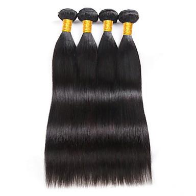 baratos Extensões de Cabelo Natural-4 pacotes Cabelo Brasileiro Liso 8A Cabelo Humano Extensões de Cabelo Natural Côr Natural Tramas de cabelo humano extensão Venda imperdível Extensões de cabelo humano Todos