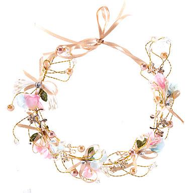 Imitație de Perle / Sârmă de cupru Banderolele / Lantul Capului cu Imitație de Perle / Panglici / Flori 1 Bucată Nuntă Diadema