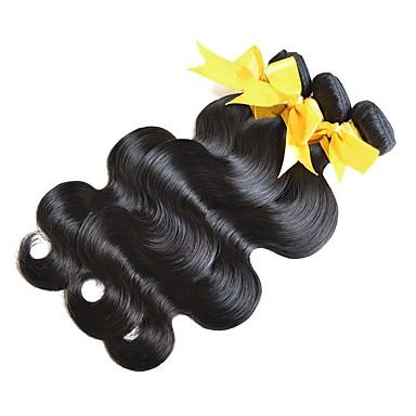 3 zestawy Włosy mongolskie Body wave Włosy virgin Prezenty / Markowy outlet Czarny Kolor naturalny Ludzkie włosy wyplata Gorąca wyprzedaż / Dla czarnoskórych kobiet / 100% Dziewica Ludzkich włosów