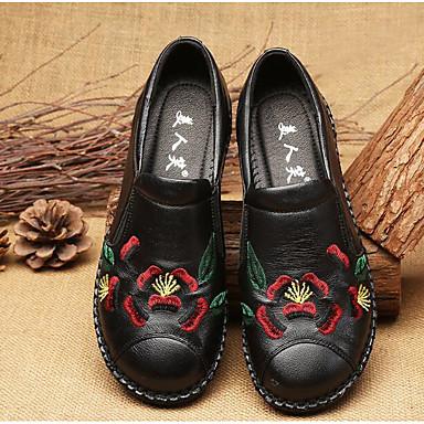 06629863 D6148 Printemps Talon Cuir Femme Mocassins Rouge et Chaussures Automne Chaussons Noir Violet Confort Plat Z6EH8q