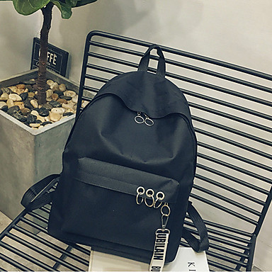 les sacs à dos des motifs floraux floraux floraux unisexes en toile noire / rougis rose d54dc4