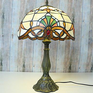 Tradycyjny / Classic Dekoracyjna Lampa stołowa Na Metal 220-240V Biały / Żółty
