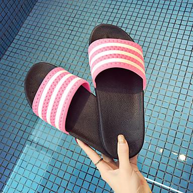 Homens sapatos Couro Ecológico Primavera Outono Conforto Chinelos e flip-flops para Ao ar livre Preto Vermelho Azul