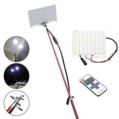 billige Lommelykter & campinglykter-12V Lanterner & Telt Lamper 4000 lm LED LED emittere Fjernkontroll Usynlig Camping / Vandring / Grotte Udforskning Fisking Hvit
