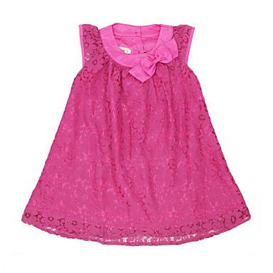 Brzdąc Dla dziewczynek Patchwork Koronka Bez rękawów Sukienka / Urocza