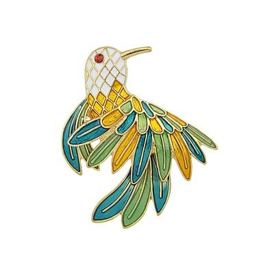voordelige Dames Sieraden-Dames Broches Parrot Dames Standaard Modieus Broche Sieraden Groen Voor Dagelijks Afspraakje
