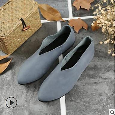 Gris Confort Plat fermé Ballerines Printemps Cuir Bout Chaussures Bourgogne Bleu Automne Talon Femme 06626616 wR4Ifvqnn