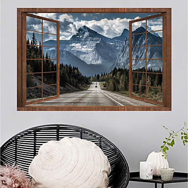 cheap Home Decor-Wall Decal Decorative Wall Stickers - Plane Wall Stickers Landscape 3D Re-Positionable Removable
