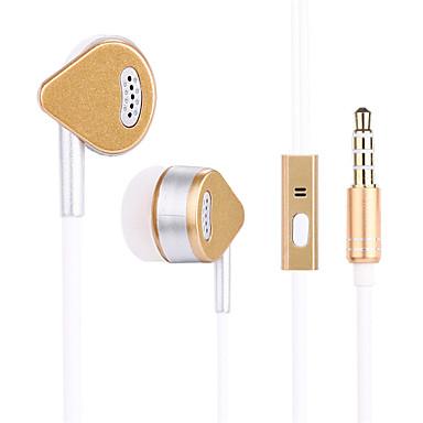 Słuchawki douszne Słuchawki douszne ze stopu aluminium Słuchawki na telefony komórkowe z regulacją głośności i mikrofonem z izolowanym szumem