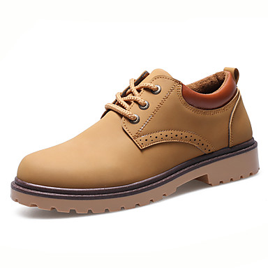 Men's Leather / Nappa Leather Spring / Fall Comfort Sneakers Walking Shoes Black / Brown / Blue