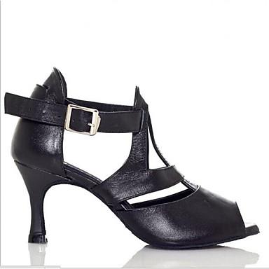 06641847 Talon Cuir Eté Escarpin Basique Nubuck Noir Personnalisé Femme Cuir Chaussures Sandales 16FZ8P
