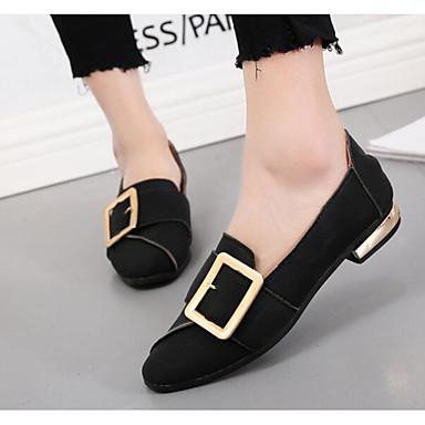 y Mujer Negro Verde Gris de Confort Primavera Zapatos bajo Otoño 06618225 taco Bajo Ejército Zapatos PU Slip On Tacón qwzr4q