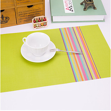 Casual Plastik Kwadrat Podkładki Dekoracje stołowe 1 pcs