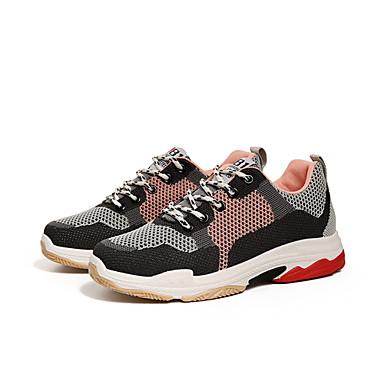 Plat Basket 06632821 Femme Talon Rouge Confort Chaussures Tulle Eté Gris Printemps Rose qZX0HS