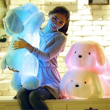 voordelige Knuffels & Pluche dieren-Romantiek Honden Knuffels & Pluche dieren LED Lamp Schattig comfy LED Unisex Meisjes Speeltjes Geschenk 1 pcs