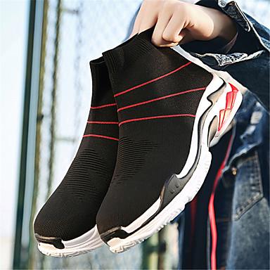 Noir Printemps Confort Talon Femme 06640122 Noir Basket Eté Plat Tricot Chaussures Rouge aqWawE8H