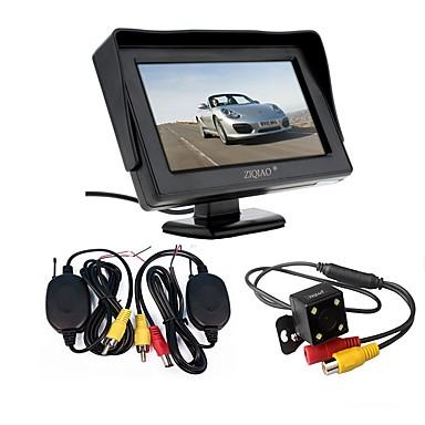 odbiornik radiowy 3 w 1 ziqiao zestaw wodoodporny aparat cofania kamery cofania z 4,3 hd monitor kolorowy parking samochodowy