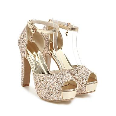 Eté Rose Paillettes Femme Argent Sandales Boucle ouvert Escarpin Basique Talon Bleu Printemps Aiguille 06648623 Chaussures Bout qtgwA