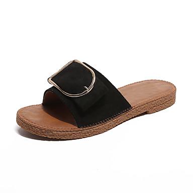 Sandalias abierta Paseo PU Mujer Creepers 05811199 Verano Negro Zapatos Tacón Amarillo Cuña Puntera IwSpSHxq