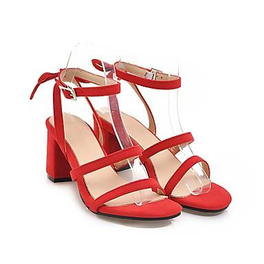 Printemps ouvert Sandales Eté Bottier Chaussures Similicuir Beige Sandales à talons Rose Rouge Bout Confort 06612018 Femme Talon zHEqOwxt