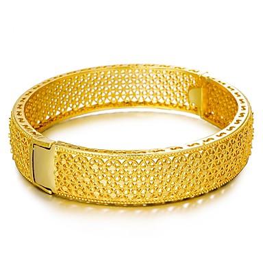 billige Motearmbånd-Dame Armringer Hul Statement damer Etnisk Chinoiserie Gullbelagt Armbånd Smykker Gull Til Fest Gave
