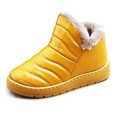 Damskie Obuwie Derma Zima Comfort / Śniegowce Buciki Płaski obcas Kozaczki / kozaki do kostki Black / Yellow / Drak Red